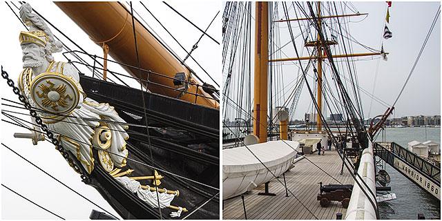 HMS Warrior Portsmouth Dockyard Figurhead Deck
