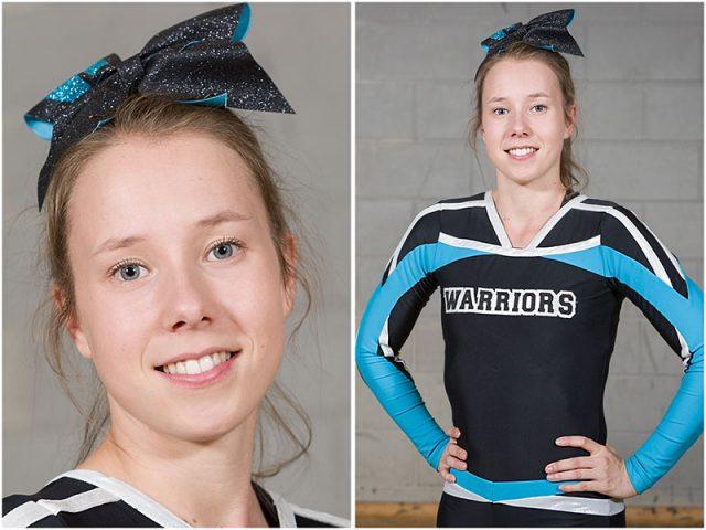Portsmouth Warrior Cheerleading Coach Portrait Headshot