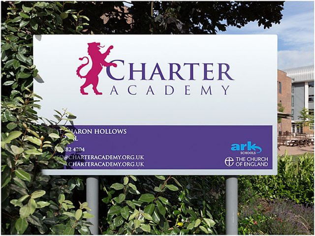 charter academy portsmouth sign