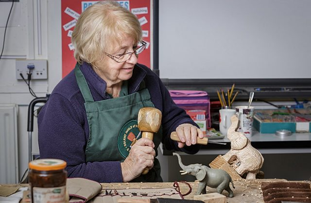 female member of the solent woodcarvers and sculptors guild