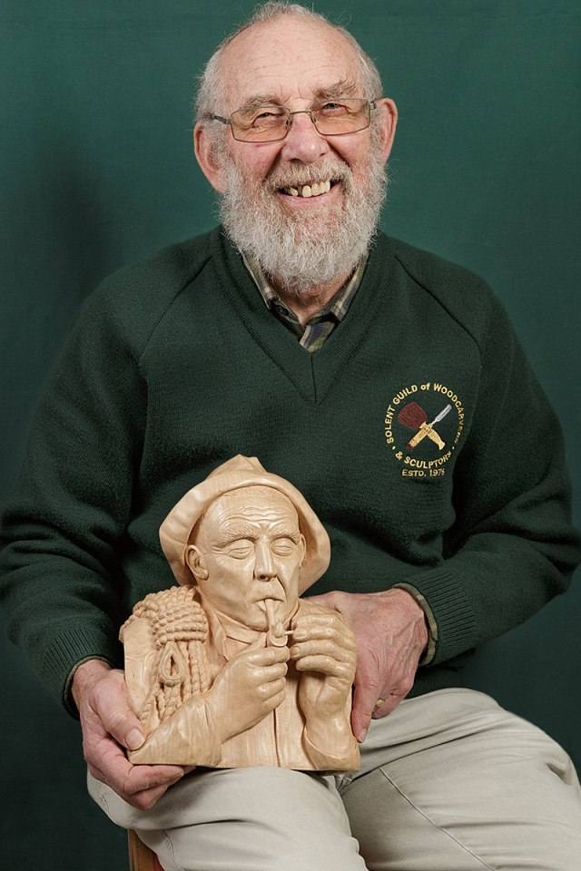portrait of andy banger a member of the solent guild of woodcarvers and sculptors