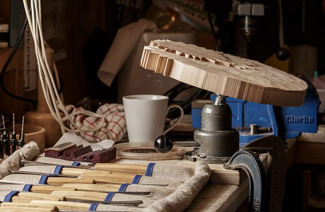 home workshop of a member of the solent guild of woodcarvers and sculptors
