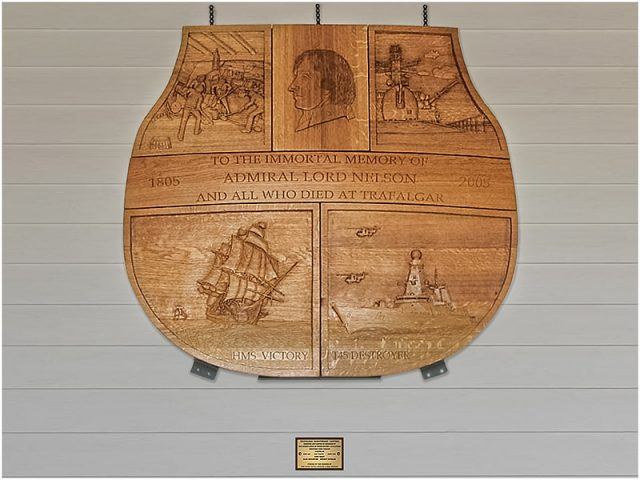trafalgar bicentennial commemoration carving by the solent guild of woodcarvers and sculptors