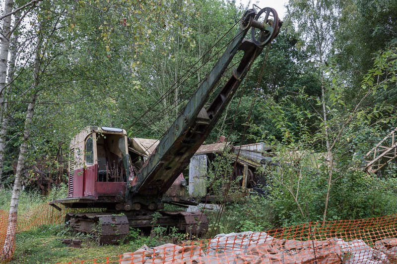 Out of commision diggers at bursledon brickworks museum
