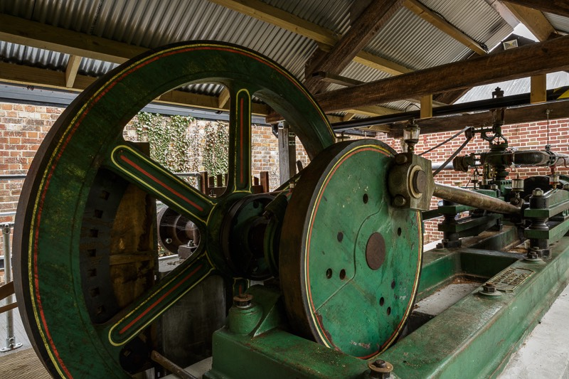 Number two John Wood steam engine at bursledon brickworks museum