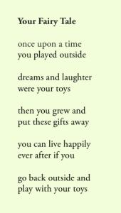 Poem by Steve Kaye