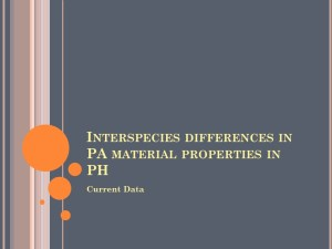 Interspecies Differences in PA Material Properties in PH