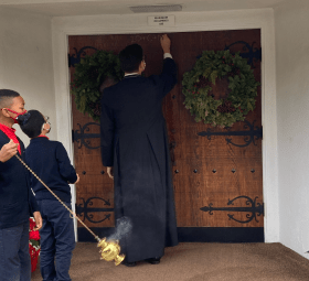 Epiphany Blessing 2021- Chalking the Door