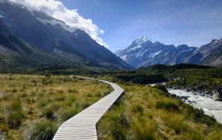 nouvelle-zélande pacifique montagne paysage mont cook