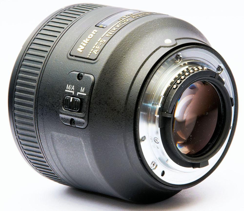 arrière nikon 85mm f/1.4 g