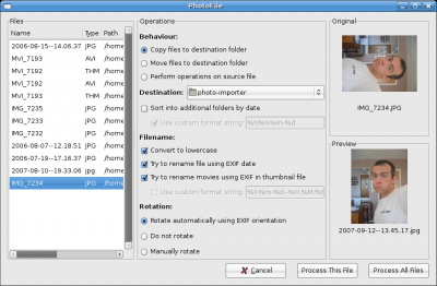 PhotoFile pre versioning