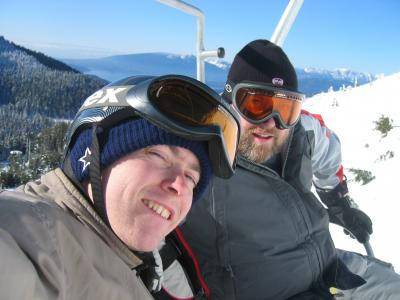 My brother and I on the lift