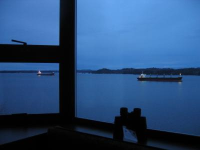 Looking out across Tuck Inlet