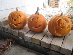 unlit jackolanterns