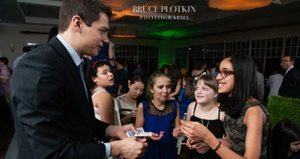 College Magician Steven Brundage performs magic for college students