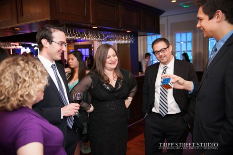 Magician Steven Brundage performing magic at a corporate event