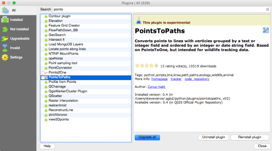Install the Points to Paths plugin.