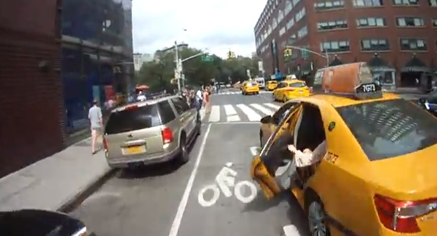 Dooring is dangerous (sometimes deadly) for bicyclists. Where's the data? Image via The Blaze