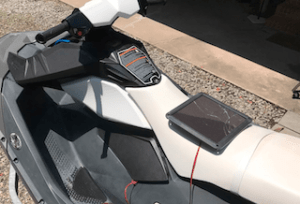 jet ski with solar panel charger