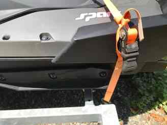 Straps for holding jet ski to the trailer