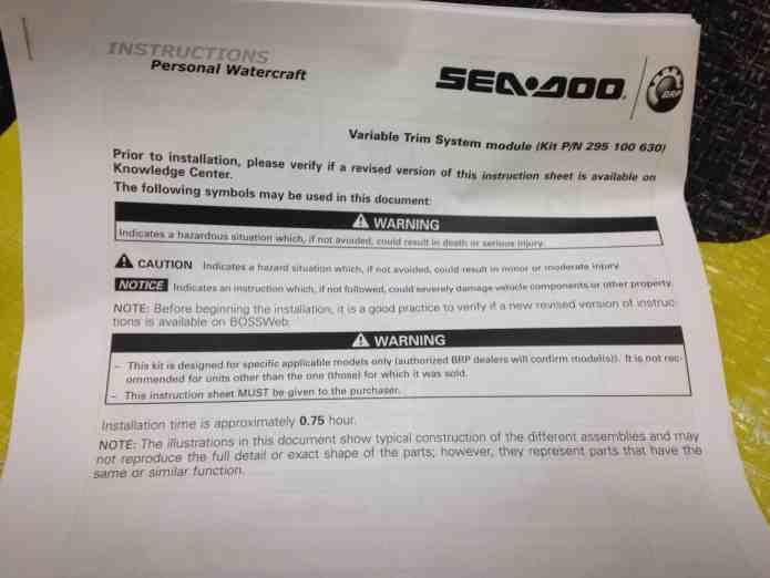 Sea Doo Spark VTS3