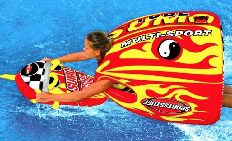 sumo tube boogie board water lake ocean waves