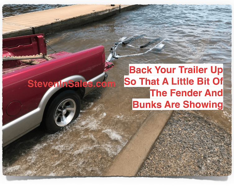 Back trailer up into the water depth