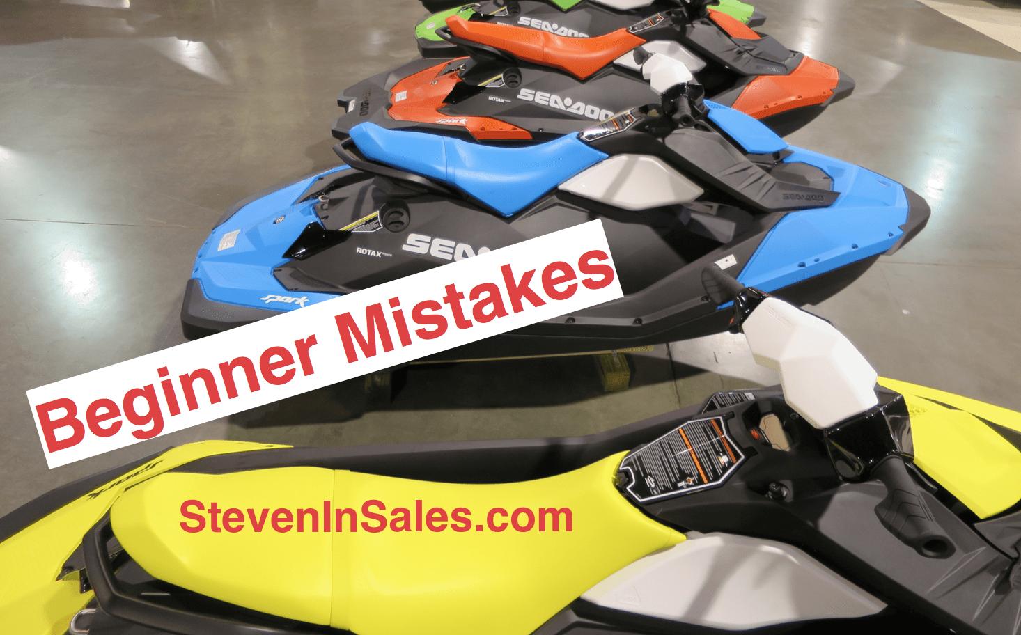 Mistakes beginners make list