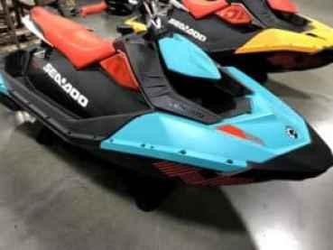 blue orange spark beginner jet ski