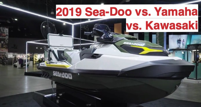 Yamaha vs Sea-Doo vs Kawasaki with picture of Fish Pro
