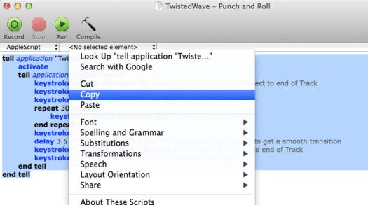 Copy AppleScript