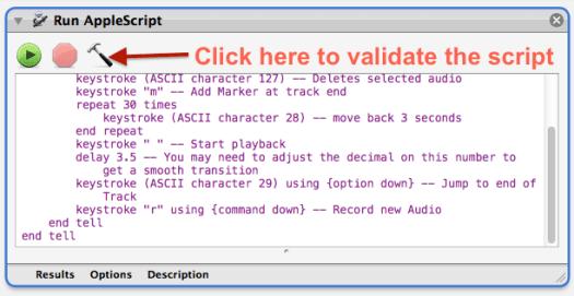 Add AppleScript to automator