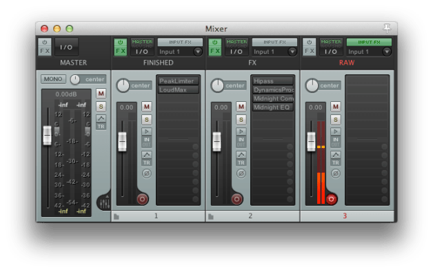A Complex ProTools Voiceover Template made Easy by Reaper