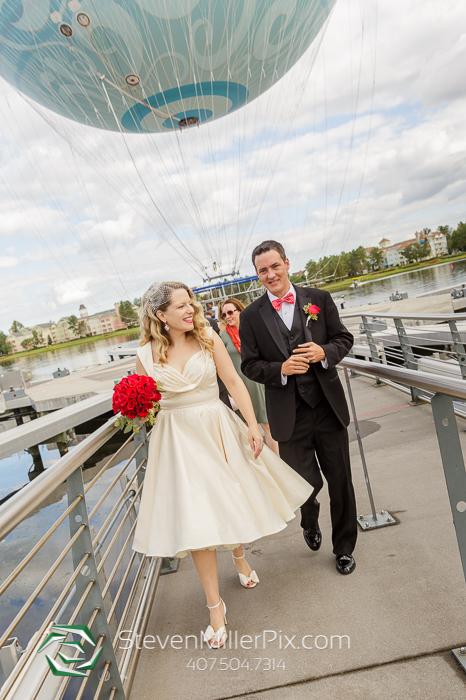 Disney Springs Balloon Flight Wedding Photographers