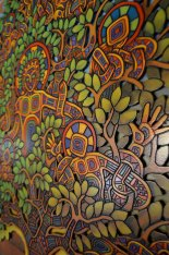 Tree of Life. 6ft x 4ft Acrylic on carved wood