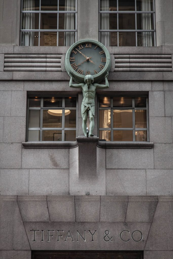 Atlas Clock, Tiffany, New York