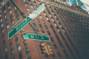The Intersection of Broadway and West 57th Street, New York City
