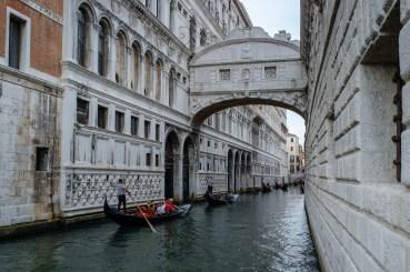 The Bridge of SIghs above RIo de Palazzo o de Canonica