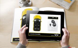 Automotive photography of Mini car