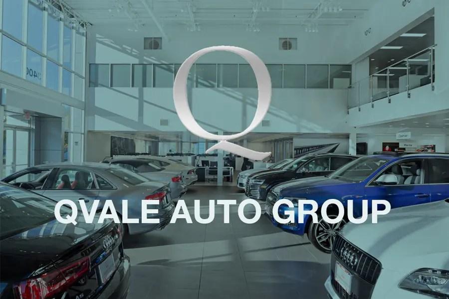 logo graphic of qvale auto group