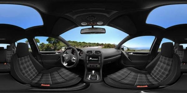 Commercial advertising virtual reality car interior