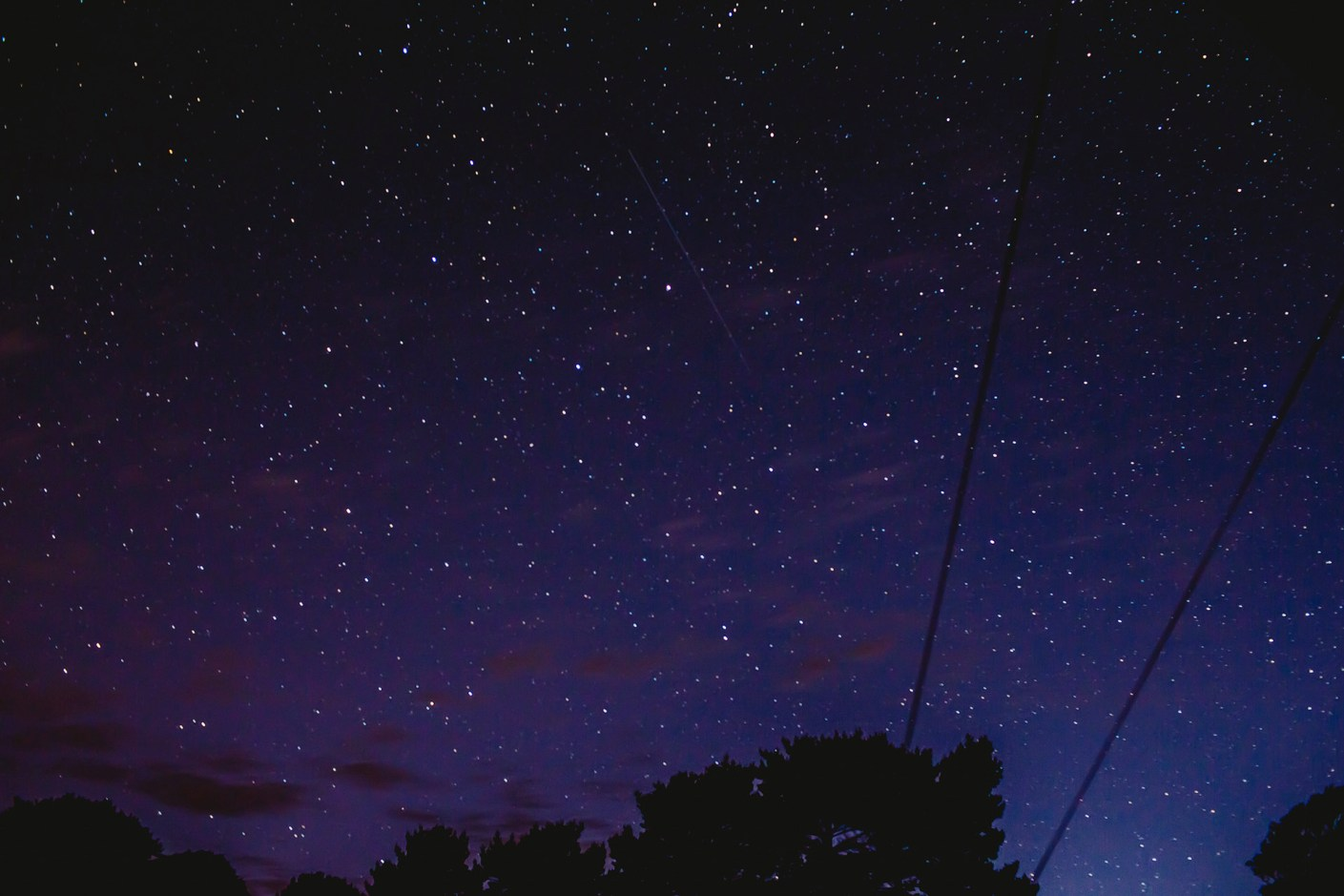 stars at the campsite