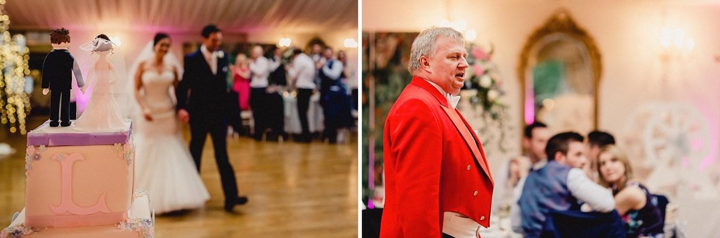 wedding cake and toastmaster