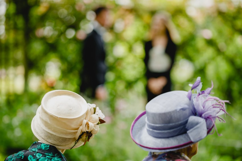 hats in the orchard
