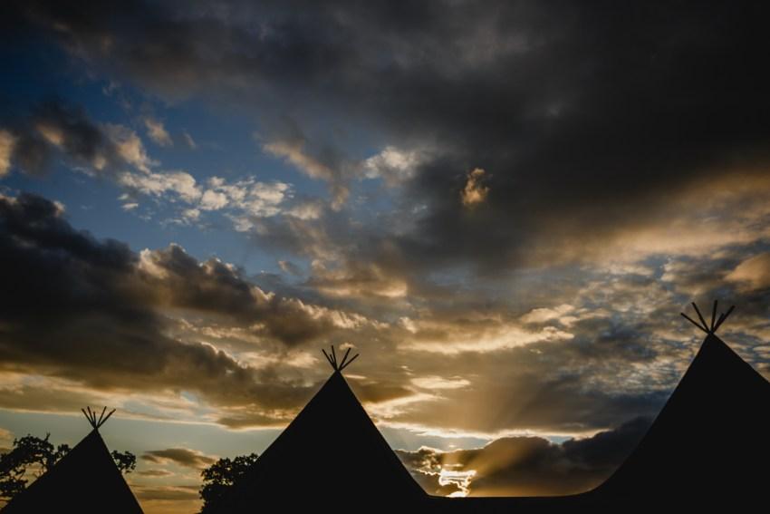 tipi sunset