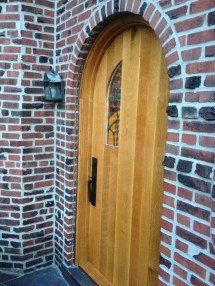 Arched Door with Speak Easy