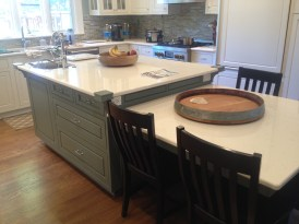 Kitchen Island with Two Levels