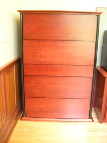 Custom cherry file cabinet