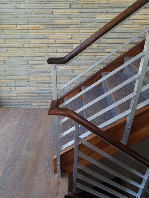 stair rail restored