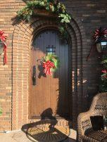 Custom QS oak arched front door